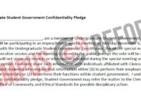 Student Government Senators Forced to Sign NDA -Alexander Cullen