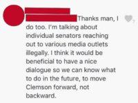 "CUSG Senate Concerned Over ""Illegal"" Media Contact -Zachary Faria"