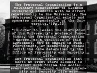 Clemson University's New Organization Policy Leaks -Zachary Faria